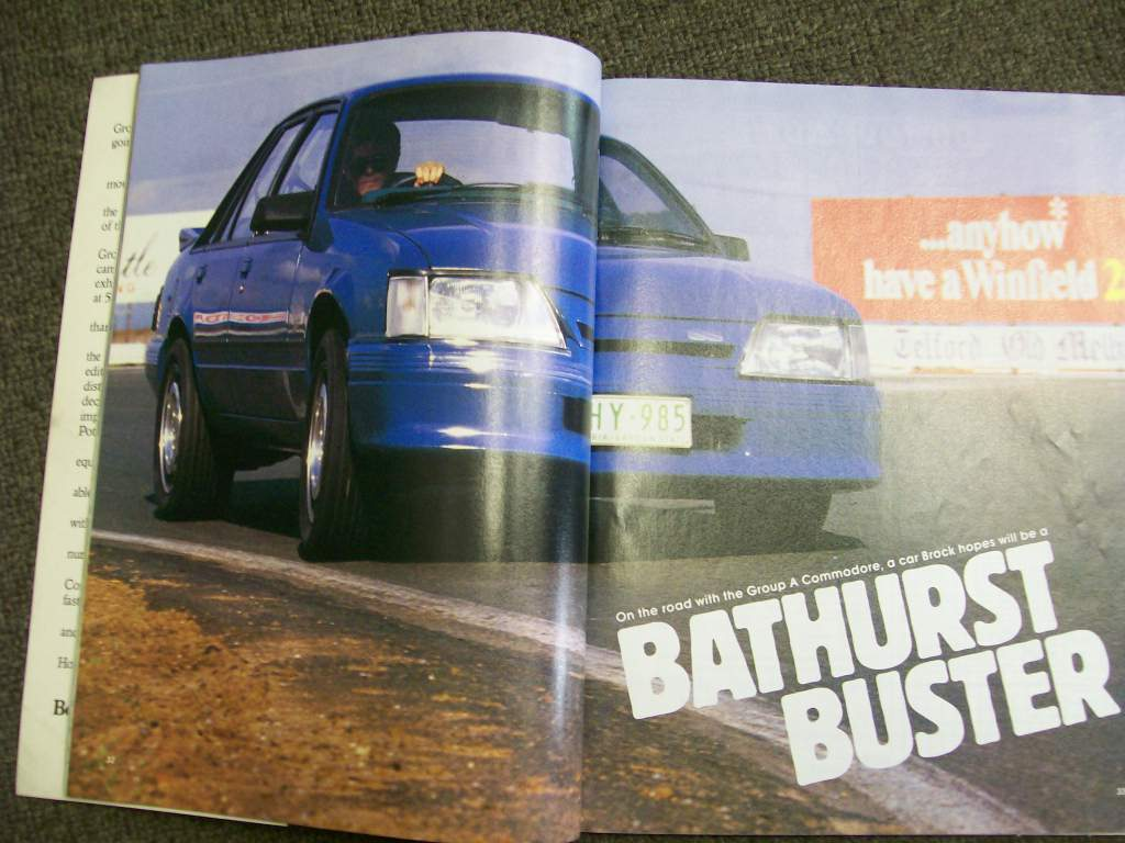 STREET MACHINE MAGAZINE 1985 HDT VK GROUP A SS COMMODORE TEST