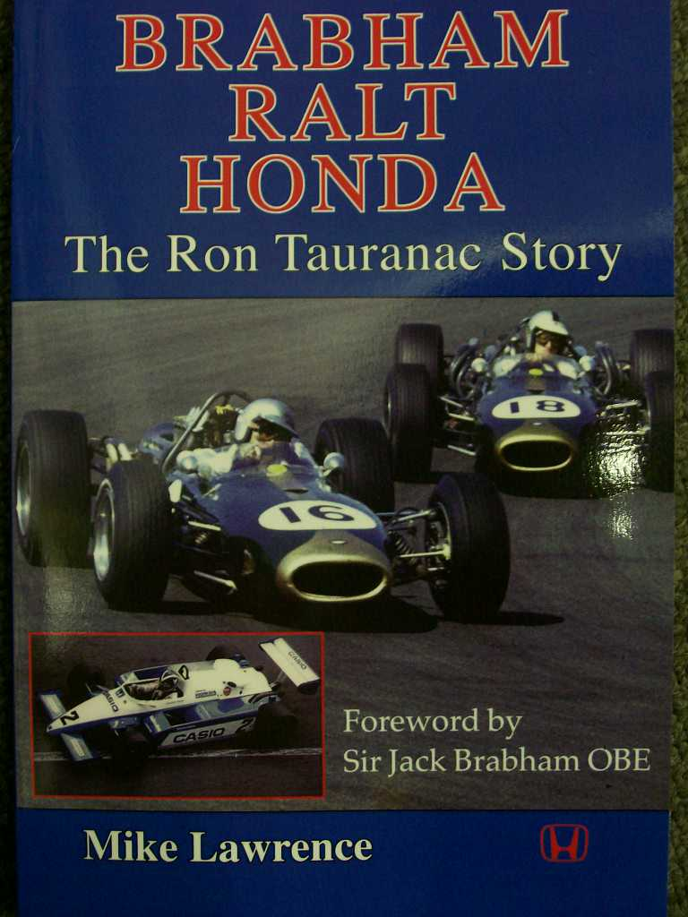 SIGNED NEW BOOK BRABHAM RALT HONDA THE RON TAURANAC STORY