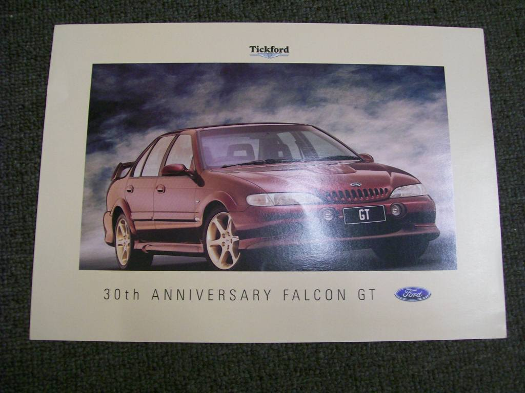 EL FALCON 1997 TICKFORD EL GT 302 NEW NOS SALES BROCHURE