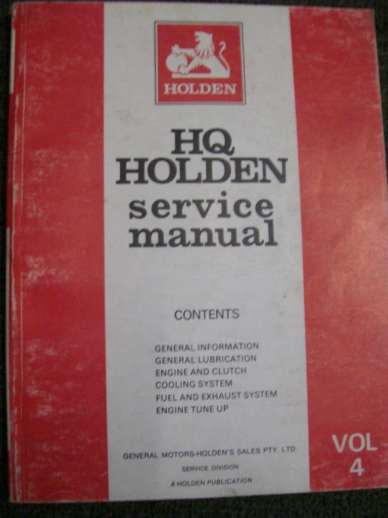 HOLDEN HQ PREMIER MONARO STATESMAN KINGSW ENGINE REPAIR MANUAL