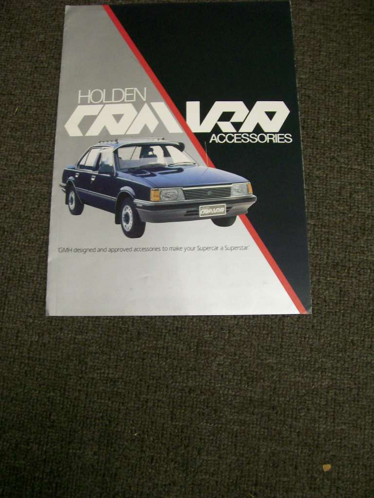 HOLDEN CAMIRA 1982 JB ACCESSORIES BROCHURE