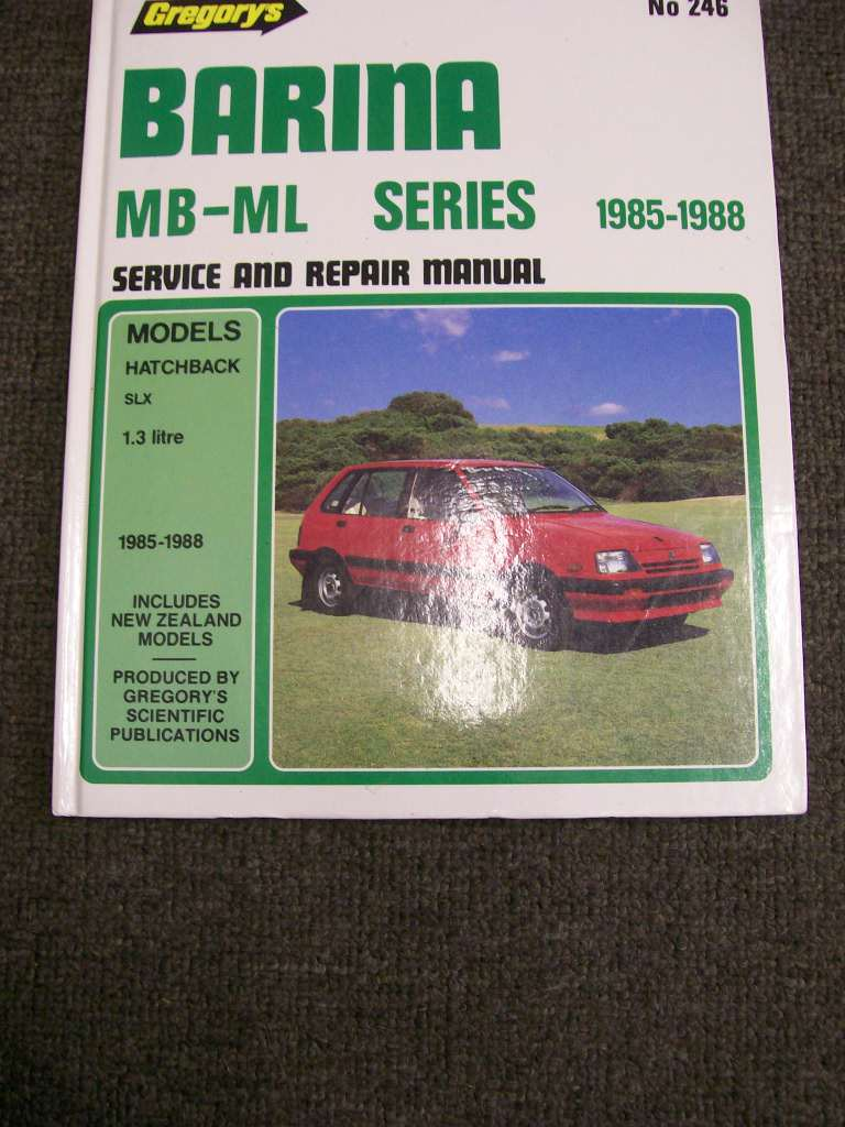 HOLDEN BARINA MB ML 1985 TO 1988 GREGORYS REPAIR MANUAL