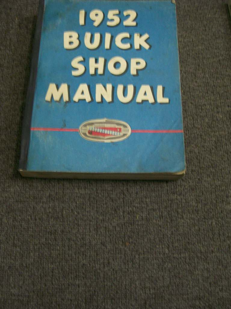 BUICK 1952 ORIGINAL SHOP REPAIR MANUAL SEE TEXT FOR OTHER YEARS