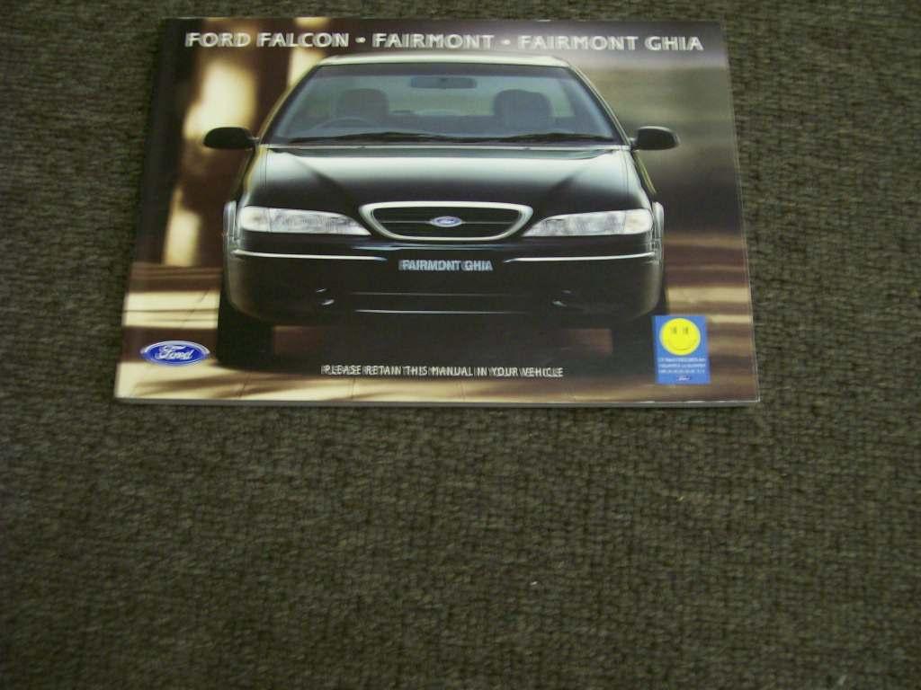 FALCON FAIRMONT EL 1998 XR6 XR8 GHIA OWNERS HANDBOOK