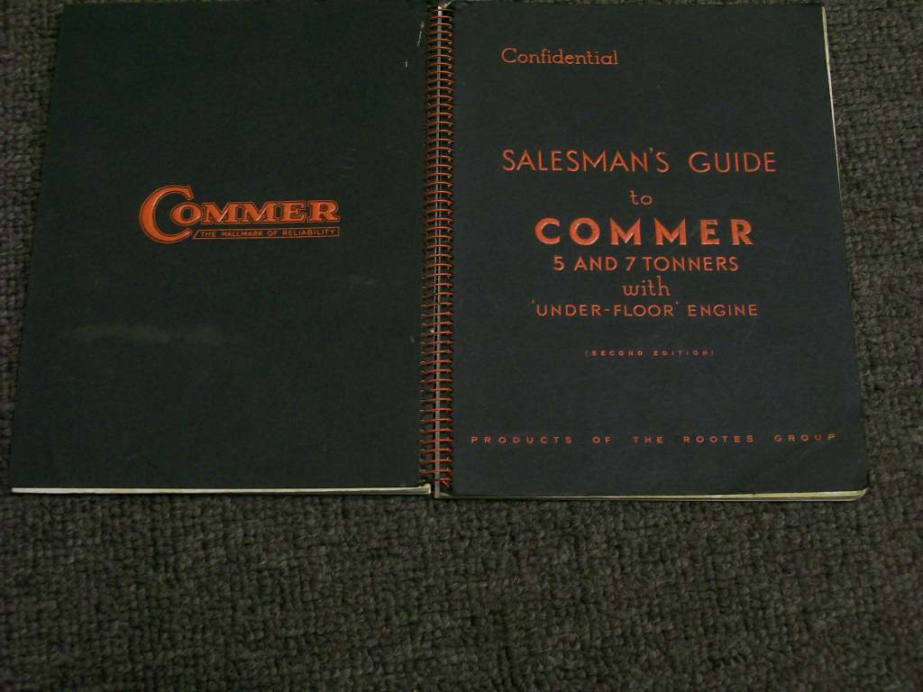 COMMER SALESMAN GUIDE 5 & 7 TON 1950 1951 TRUCK SPIRAL BOOK