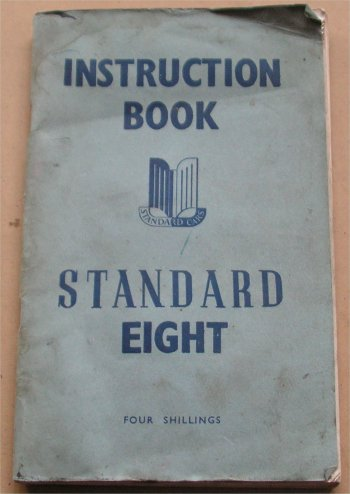 STANDARD 1947 8 OWNERS MANUAL