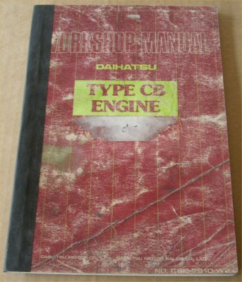 DAIHATSU CHARADE 1980 CB ENGINE MANUAL