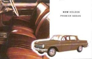 HOLDEN 1962 EJ PREMIER ORIGINAL GMH POST CARD