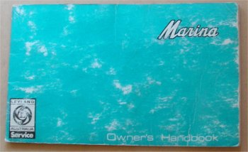 LEYLAND MARINA 1972 4 CYL OWNERS MANUAL