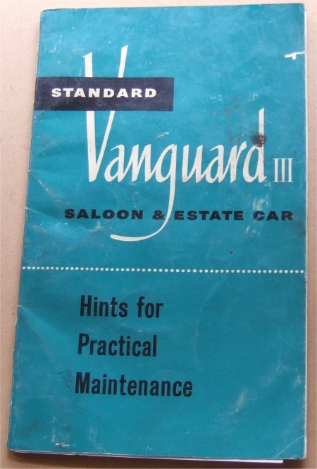VANGUARD 1955-58 SERIES 3 4 CYL OWNERS