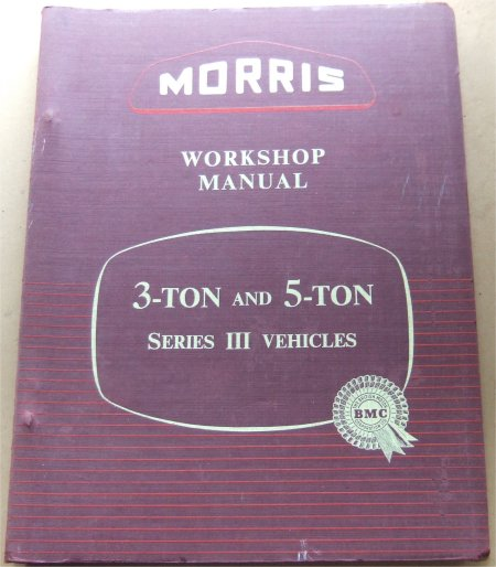 MORRIS 1956 3 & 5 TON TRUCK 303 503 S3 REPAIR MANUAL