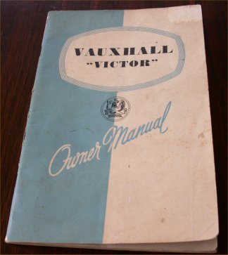 VAUXHALL VICTOR 1957 1958 OWNERS MANUAL