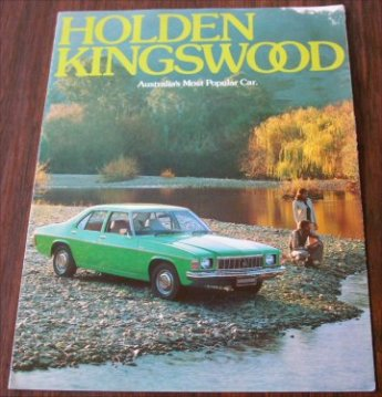 HOLDEN 1976 HX KINGSWOOD NOS SALES BROCHURE