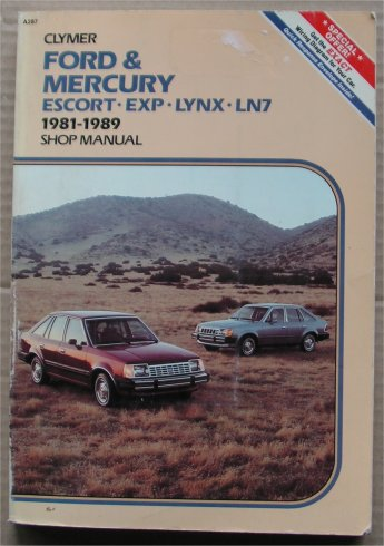 FORD MERCURY 1981-89 ESCORT EXP LYNX LN7 MANUAL