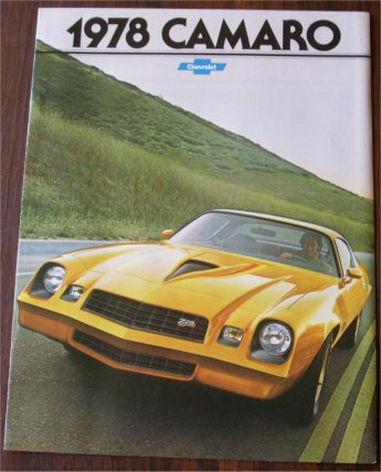 CHEVROLET CAMARO 1978 SALES BROCHURE Z28