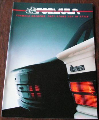 HOLDEN 1986 COMMODORE VL FORMULA BROCHURE GEMINI PIAZZA TURBO