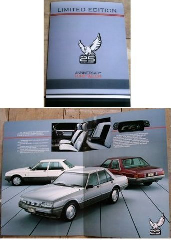 XF FORD FALCON 1985 XF 25TH ANNIVERSARY NEW NOS SALES BROCHURE