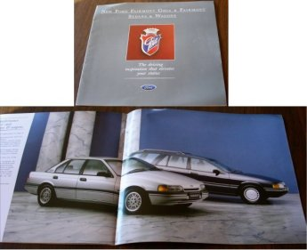 EA FORD FAIRMONT 1988 1989 EA AND GHIA BROCHURE