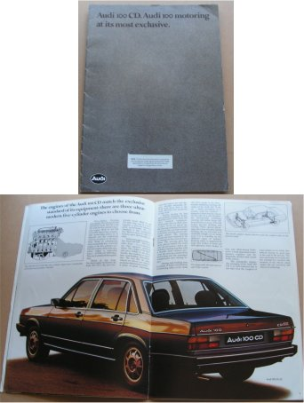AUDI 100CD 1979 SALES BROCHURE