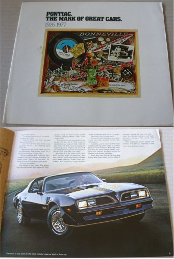 PONTIAC 1977 BROCHURE BONNEVILLE FIREBIRD TRANS AM