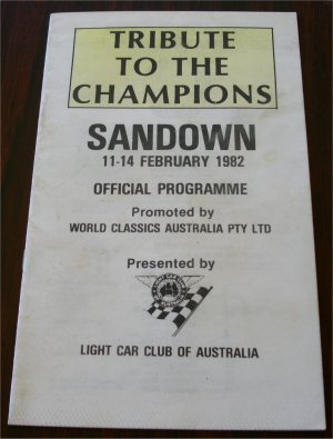 SANDOWN 1982 FEBRUARY 14 TRIBUTE TO CHAMPIONS