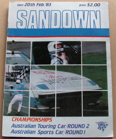 SANDOWN 1983  FEBRUARY  AUS TOURING CAR CHAMP MOFF