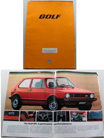VW GOLF 1978 SALES BROCHURE GTI