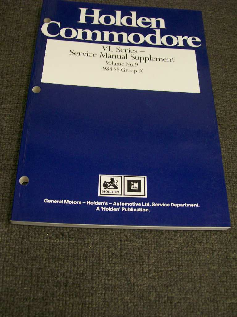 COMMODORE HSV VL SS GROUP A SERVICE MANUAL NOS NEW ORIGINAL