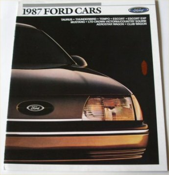 FORD 1987 USA SALES BROCHURE T-BIRD MUSTANG LTD