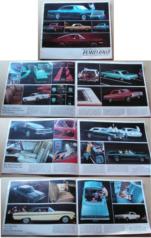 FORD 1965 USA SALES BROCHURE MUSTANG T-BIRD FALCON