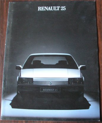 RENAULT 25 1985 SALES BROCHURE