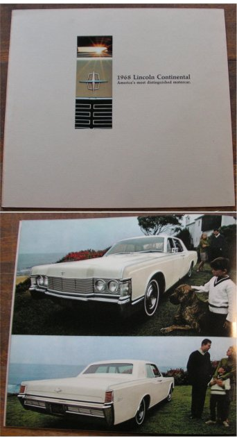 LINCOLN CONTINENTAL 1968 BROCHURE