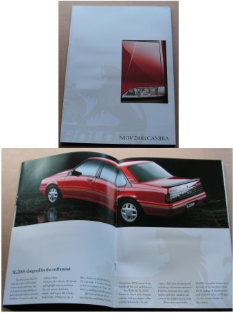 HOLDEN CAMIRA 1987-1988 JE SALES BROCHURE NEW