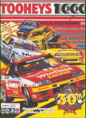 BATHURST 1992 OFFICIAL RACE PROGRAMME