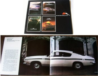 PLYMOUTH 1969 FURY GTX  VALIANT BARRACUDA BROCHURE