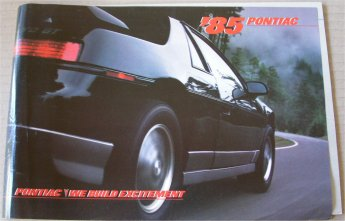PONTIAC 1985 BROCHURE FIERO FIREBIRD TRANS AM