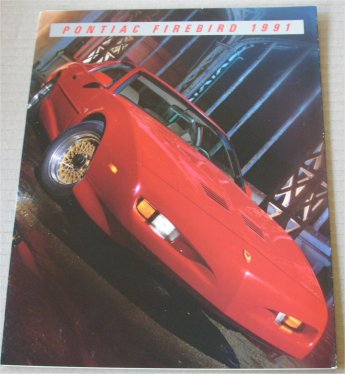 PONTIAC 1991 FIREBIRD SALES BROCHURE TRANS AM GTA