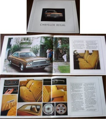 CHRYSLER VALIANT 1977 78 CL REGAL FULL SALES BROCHURE