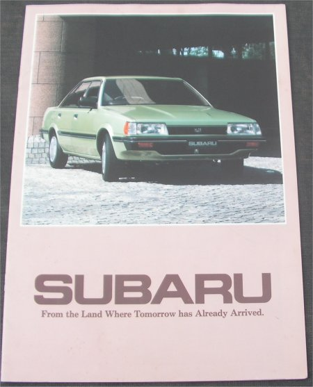 SUBARU 1985 SALES BROCHURE