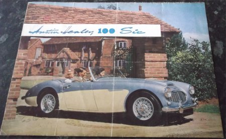 AUSTIN HEALEY 100 6 SIX SALES BROCHURE