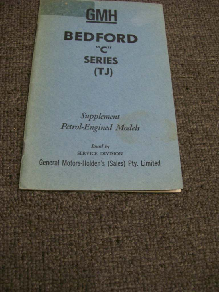 HOLDEN BEDFORD TJ C SERIES PETROL AUSSIE OWNERS MANUAL SUPP