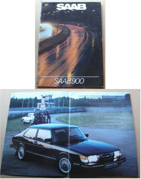 SAAB 900 1982 SALES  BROCHURE TURBO