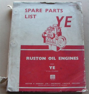 RUSTON YE 1957 PARTS BOOK