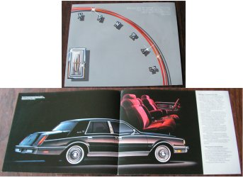 LINCOLN CONTINENTAL 1982 SIGNATURE SALES BROCHURE
