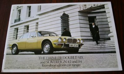 DAIMLER 1977 3.4 4.2 DOUBLE SIX SALES BROCHURE
