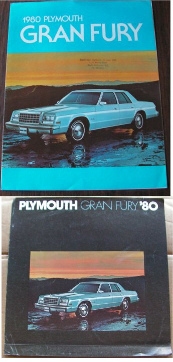 PLYMOUTH GRAN FURY 1980 SALES BROCHURES