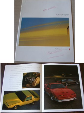 PONTIAC 1987 BROCHURE FIERO FIREBIRD TRANS AM