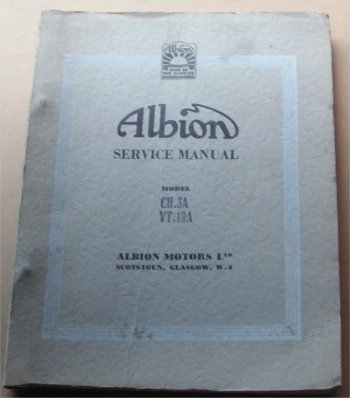 ALBION CHIEFTAIN CH3A WORKSHOP MANUAL VICTOR VT19A