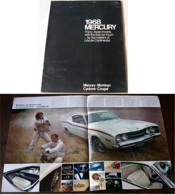 MERCURY 1968 BROCHURE COUGAR COMET CYCLONE