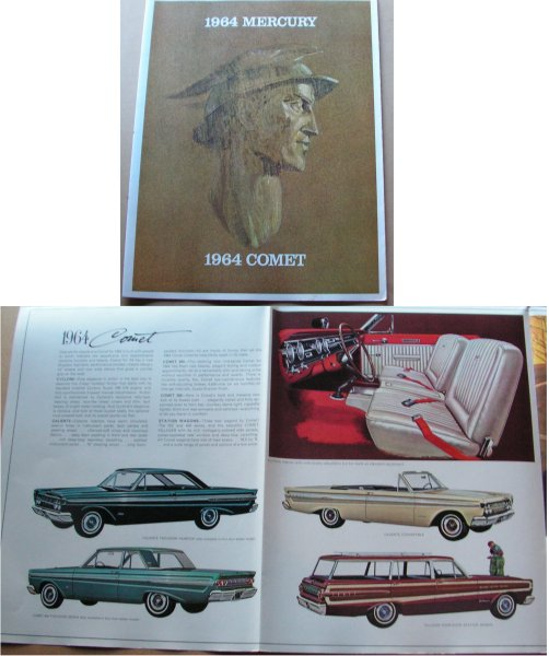 MERCURY 1964 COMET BROCHURE XM XP FALCON COULD A B